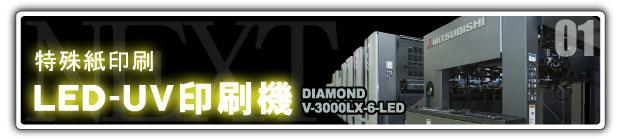 特殊紙印刷 LED-UV印刷機